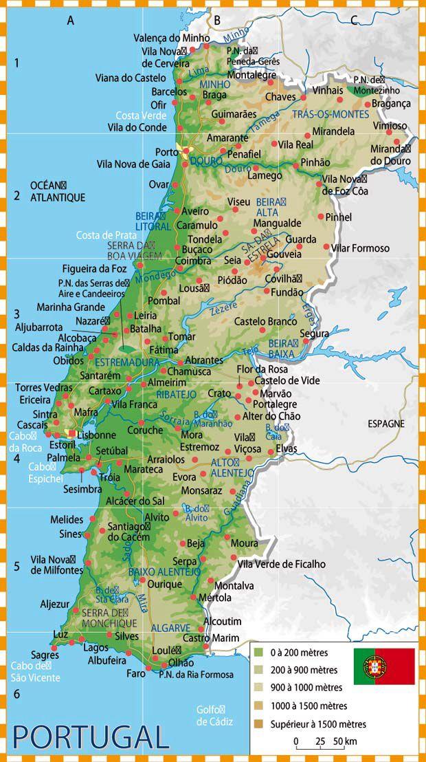 Pin De Ursula Panizo Em Portugal Mapa De Portugal Cidades