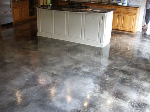 Stained Concrete Floor Grey With Acid Stained Concrete