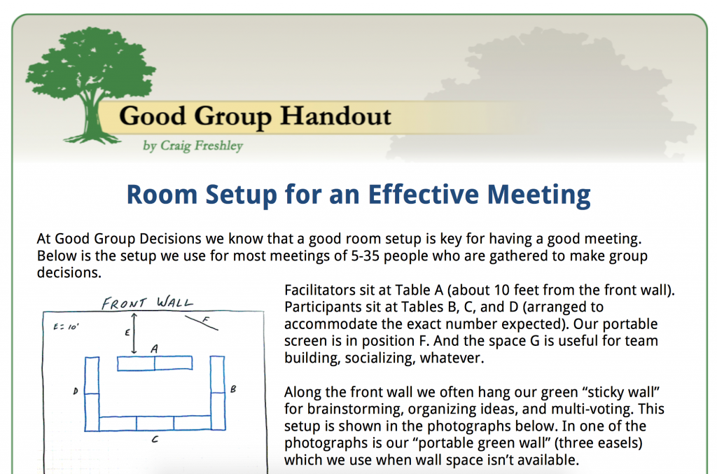 Meeting room setup for max effectiveness coaching and for Conference room setup ideas