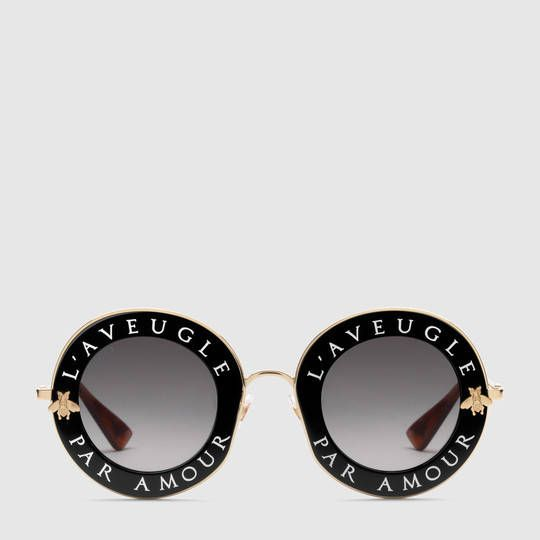 eb691a9a861 Gucci Lunettes de soleil rondes - L aveugle par amour