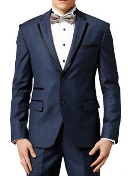Get S On Sku Men Navy Midnight Blue Fashion Designer Wedding Groom Tuxedo Dinner Suit Coat Jacket Blazer Trouser