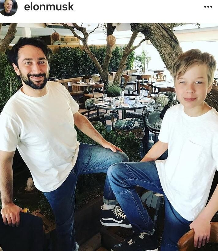 Elon Musks 13 yr old son with the Js | Nike Sneakers | Elon