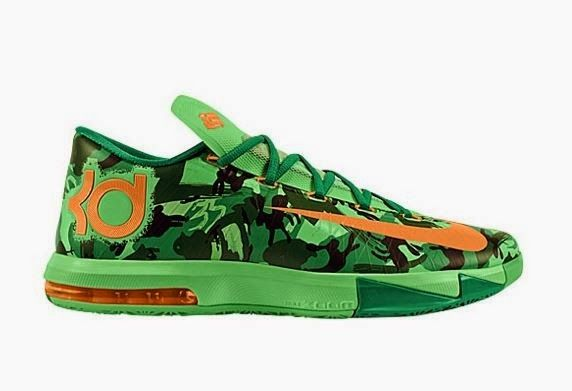 THE SNEAKER ADDICT: Nike KD Easter Bunny Camo 6 Sneaker Available Now .