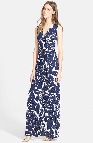 834cf4e035d Diane von Furstenberg  New Yahzi Two  Print Silk Wrap Maxi Dress available  at  Nordstrom