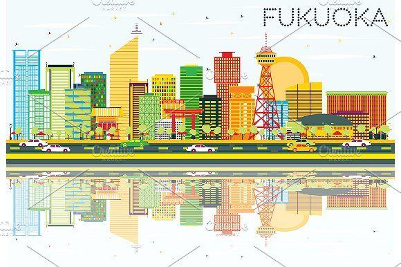#Abstract #Fukuoka #Skyline by Igor Sorokin on @creativemarket