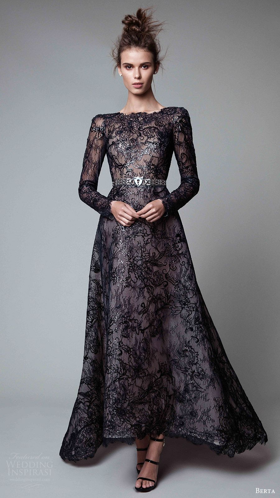 Berta fall readytowear collection jewel black and gowns