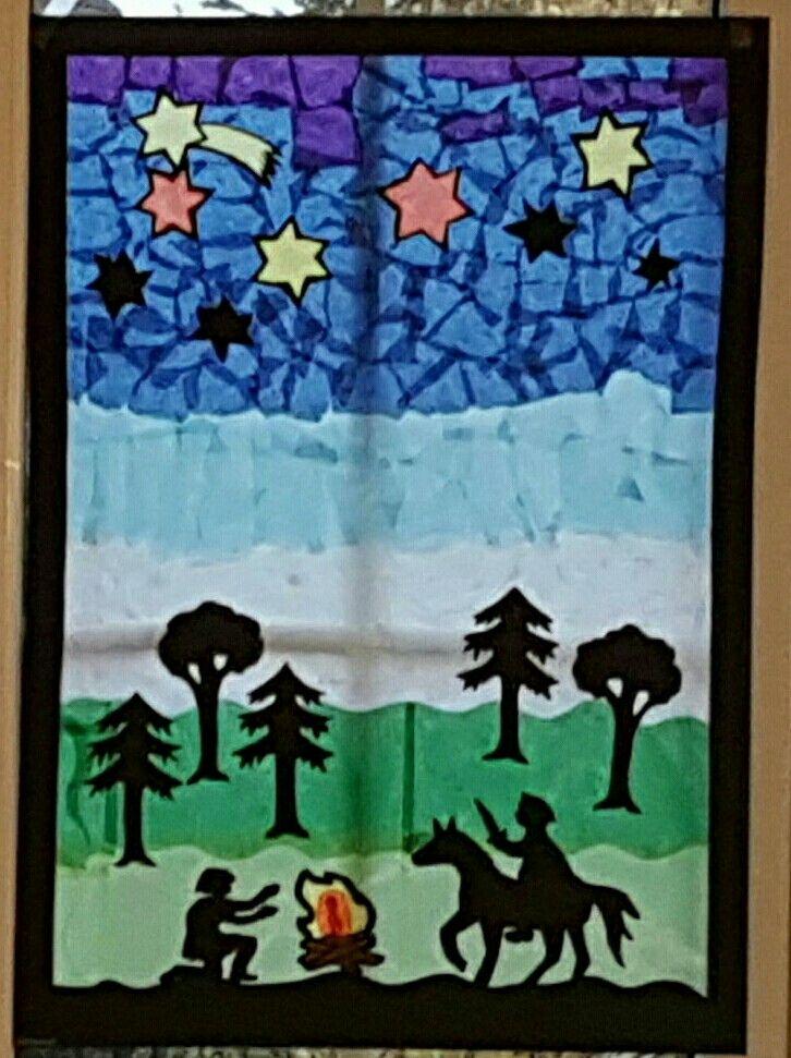 Fensterbild Sankt Martin DIY