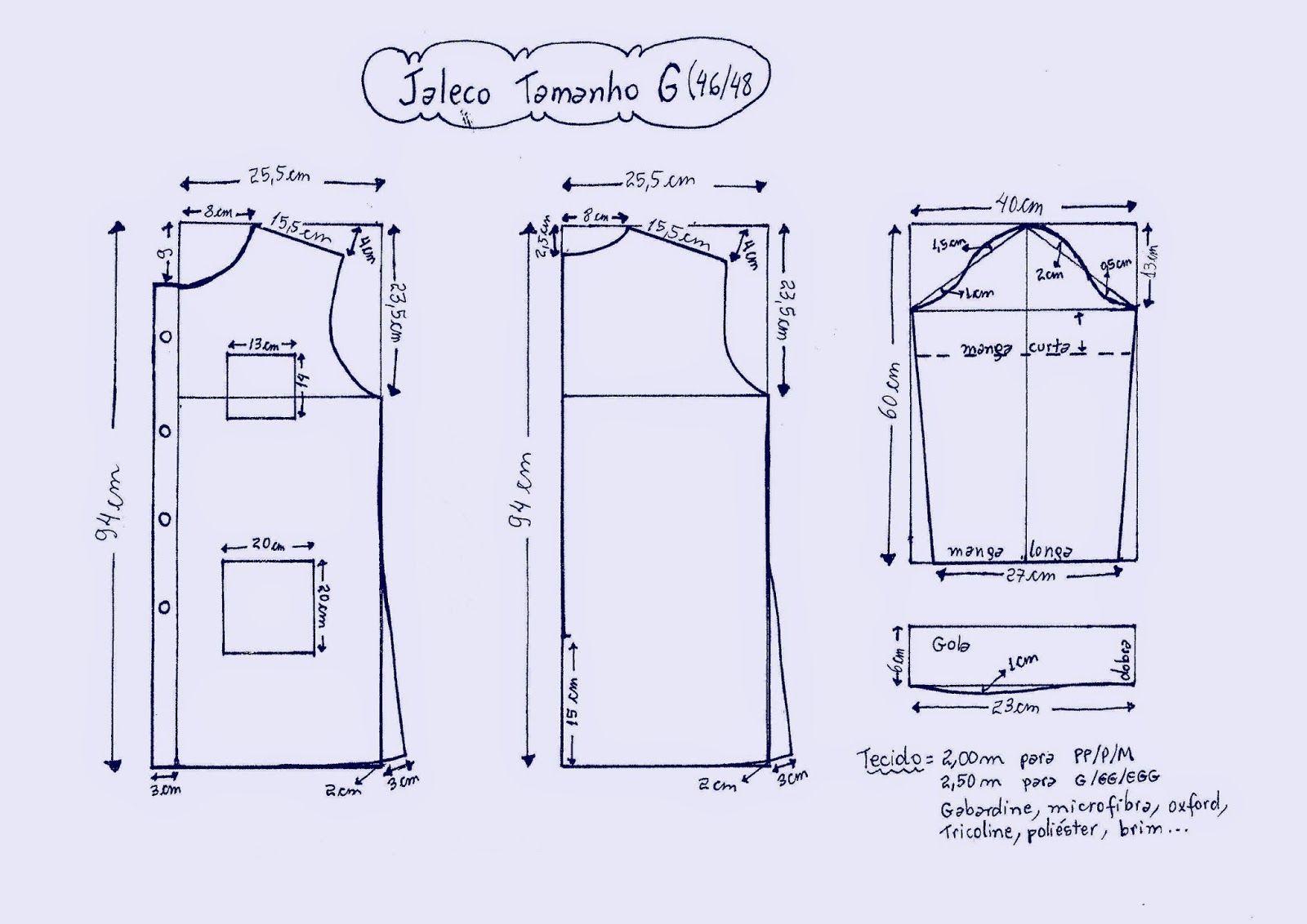 Jaleco-g.JPG (1600×1132) | blusas p costurar | Pinterest
