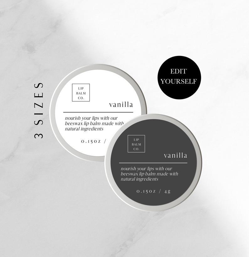 Round Label Template Printable Product Label Design Diy Avery Etsy Lilin Diy Desain Terapi