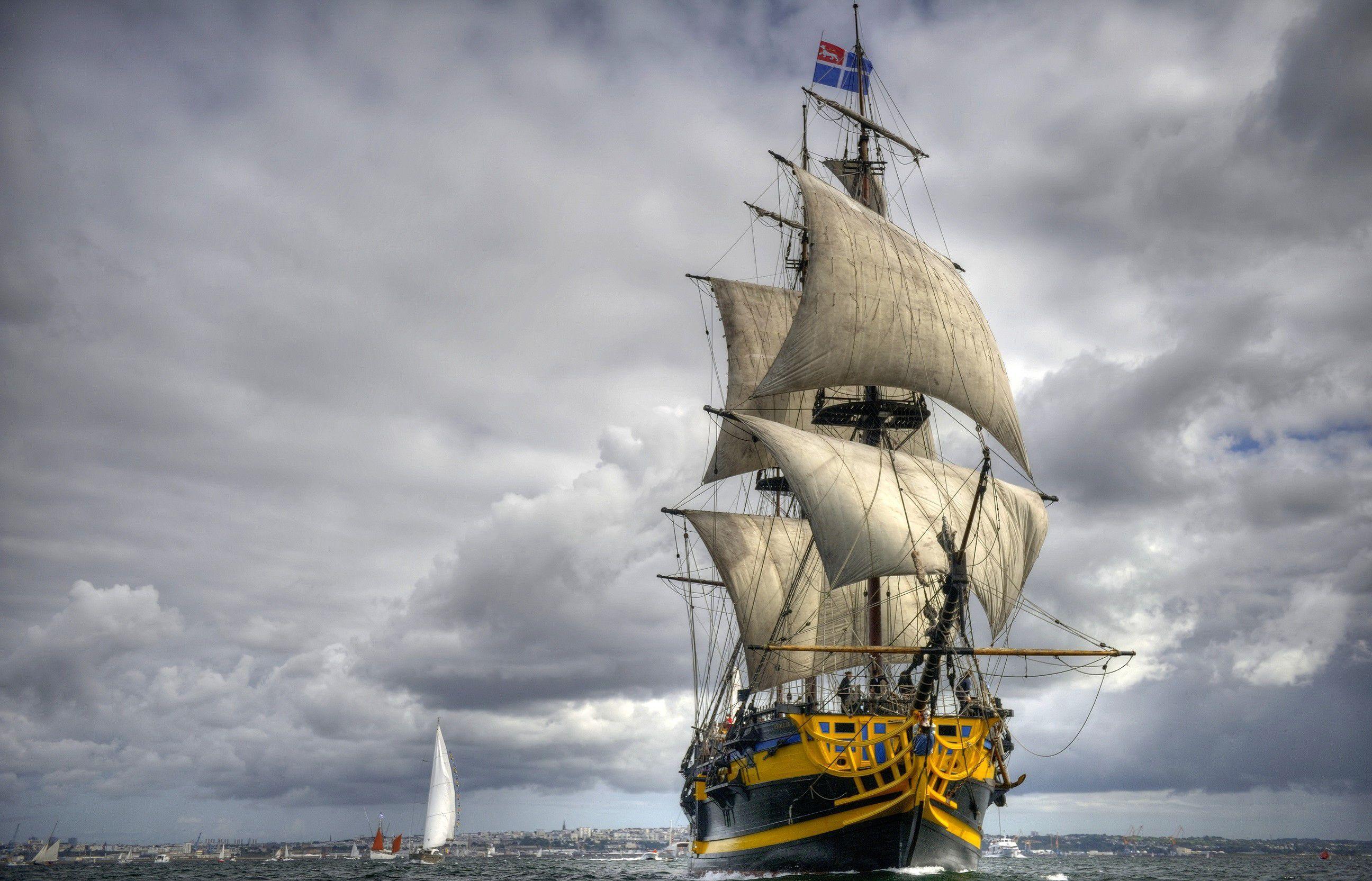 2592x1665 sailing ship wallpaper background image. view