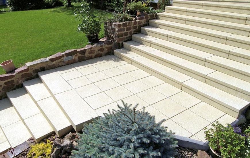Winkel-/Dekorstufen #Gartenweg #Einfahrt #Auffahrt #Hauseingang - exklusives treppen design