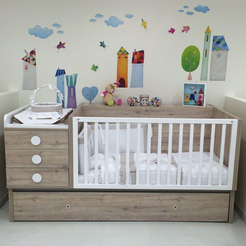 dbc02062713 Πολυμορφικό κρεβάτι Ros Elite μετατρεπόμενο σε εφηβικό και γραφείο ...