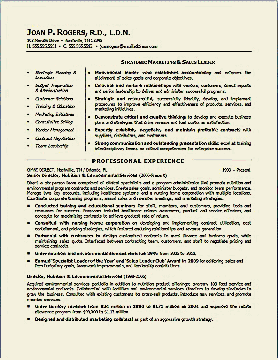 Executive Resume Examples Environmental Executive Resume Example  Executive Resume And