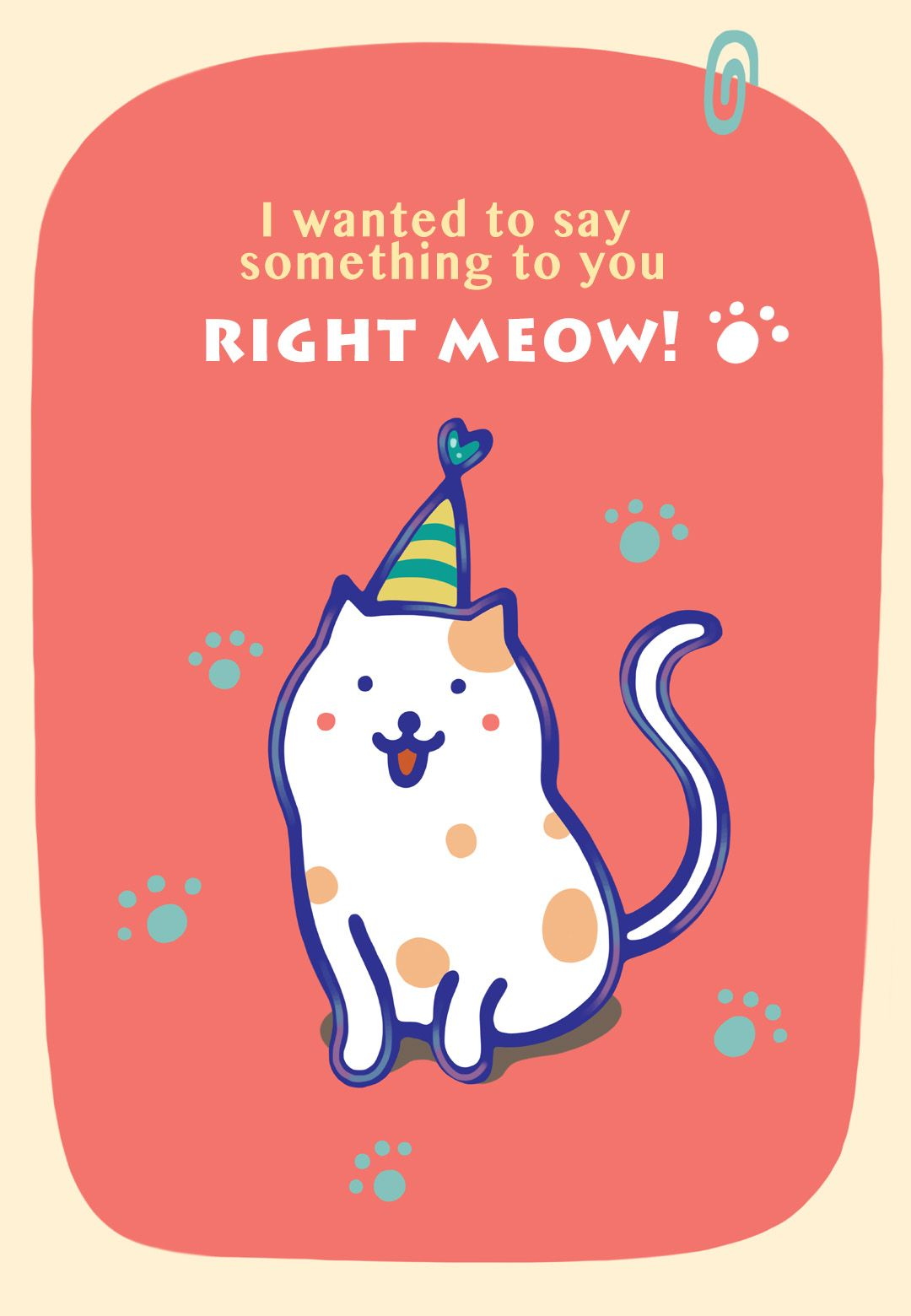 Printable right meow birthday card from greetingsisland happy printable right meow birthday card from greetingsisland m4hsunfo