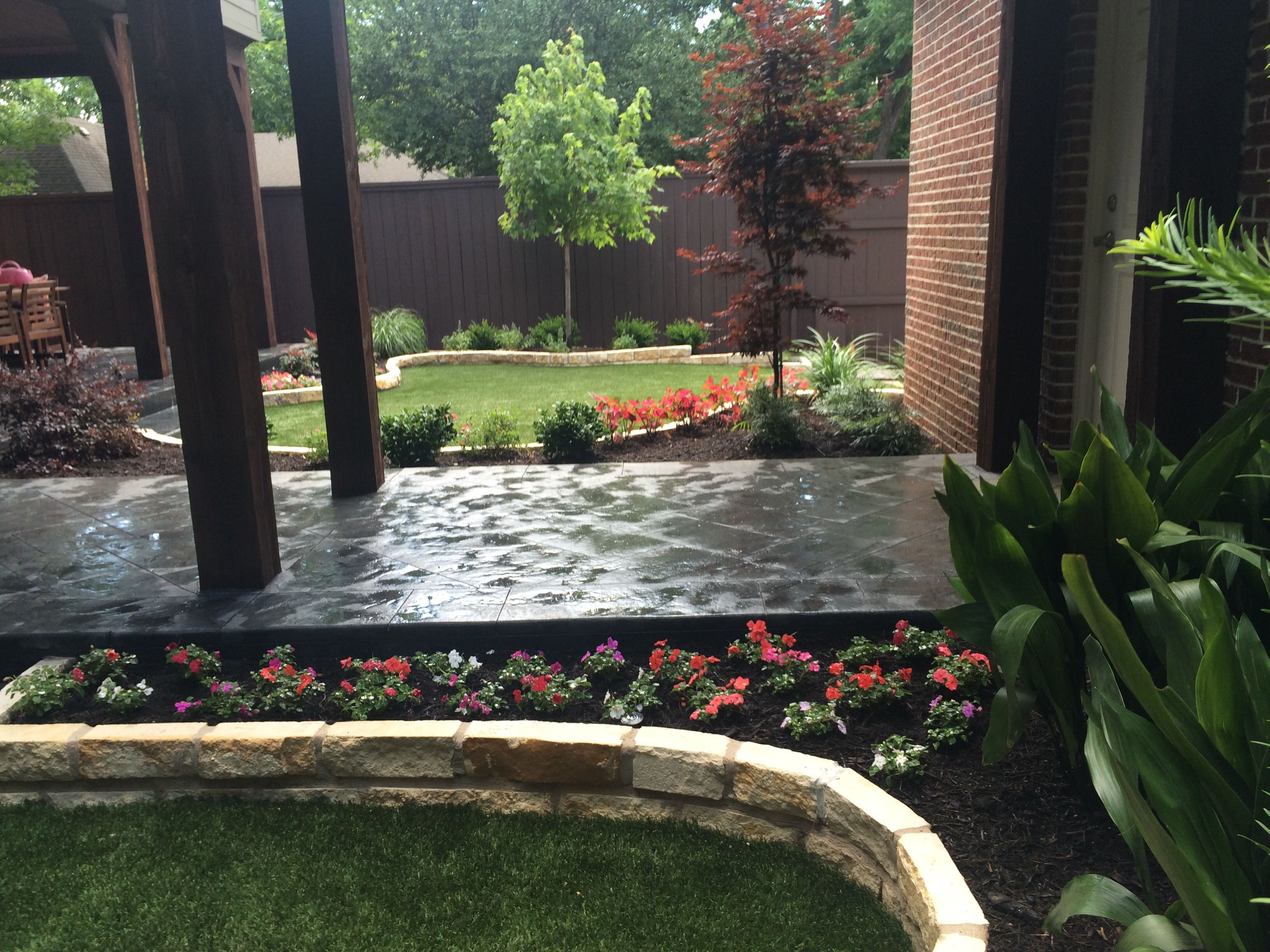 Full Install By Dallas Landscape Lighting Stone Edging Landscaping Artificial Turf Grass Artificial Turf Grass Stone Edging Turf Grass