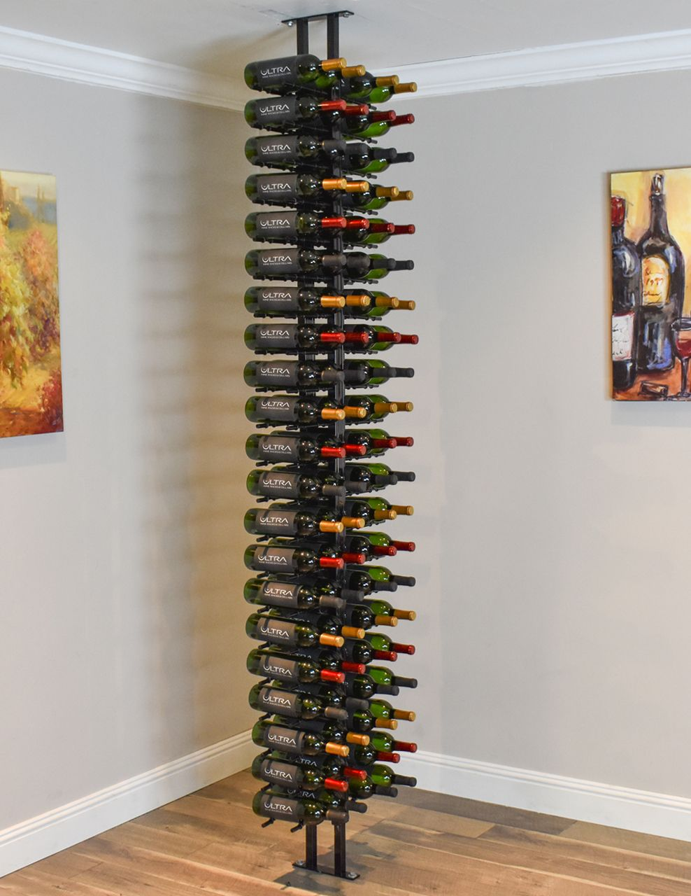 Floor To Ceiling Metal Floor Standing Wine Rack Ultra Wine Racks Standing Wine Rack Wine Rack Metal Wine Rack
