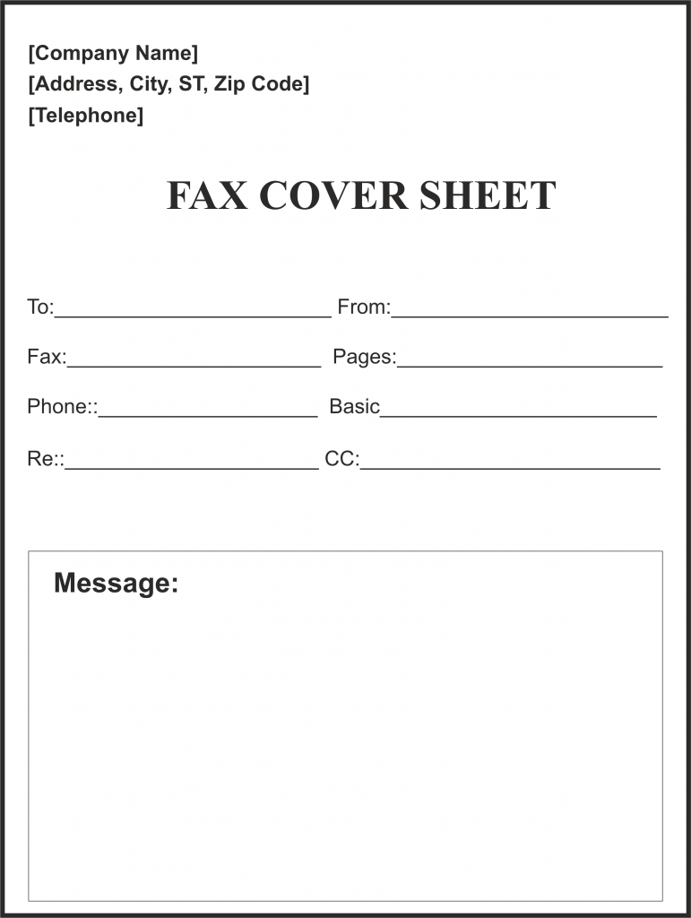 fax cover sheet word doc  collection  letter templates