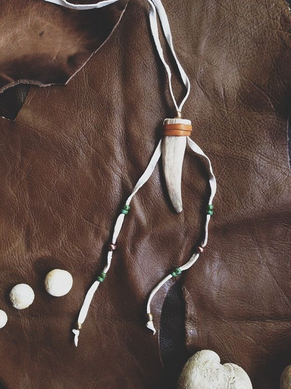 fawn.  a feminine deerskin wrapped antler tip by RootsandFeathers, $42.00