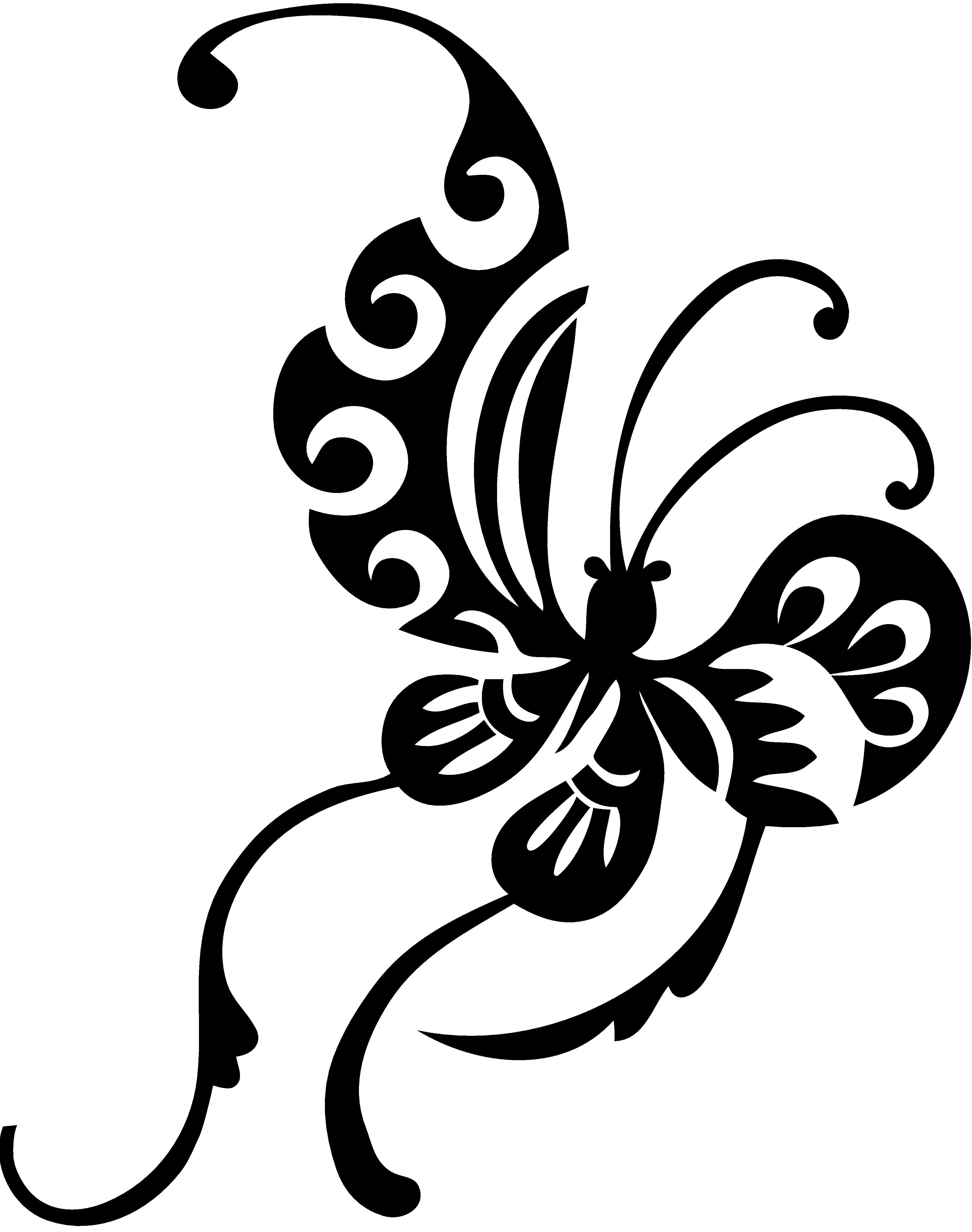 Black Butterfly Design Vector