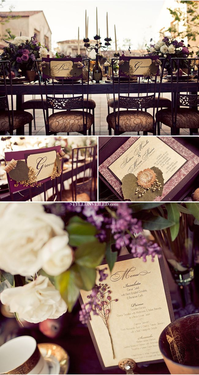 Wedding decoration ideas purple  Ballantyne Hotel Wedding Inspiration  Wedding Decoration
