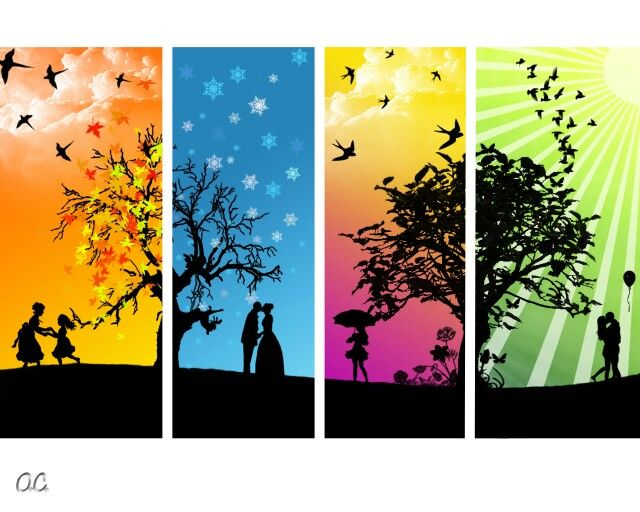 Season 4 Seasons Art Four Seasons Art Four Seasons Painting