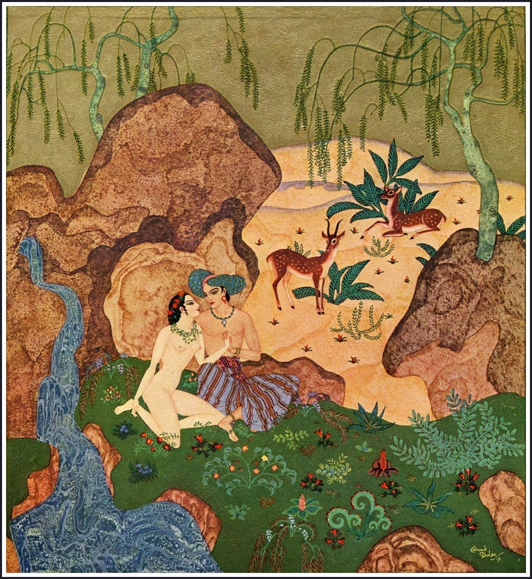 The Kingdom of the Pearl illustration by Edmund Dulac
