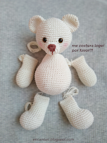 Mini Urso Crochê | Amigurumi de croche, Urso de pelúcia, Mini urso | 280x210