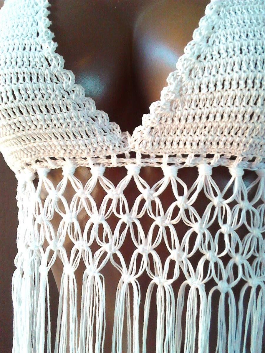 0f3bb3698 Top De Playa Tejido A Mano, Crochet, Ganchillo - $ 399.00 en ...