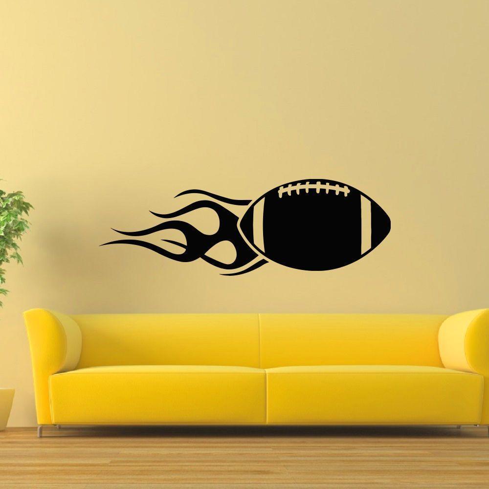 Rugby Ball Wall Art Sticker Decal | Instagram | Pinterest | Online ...