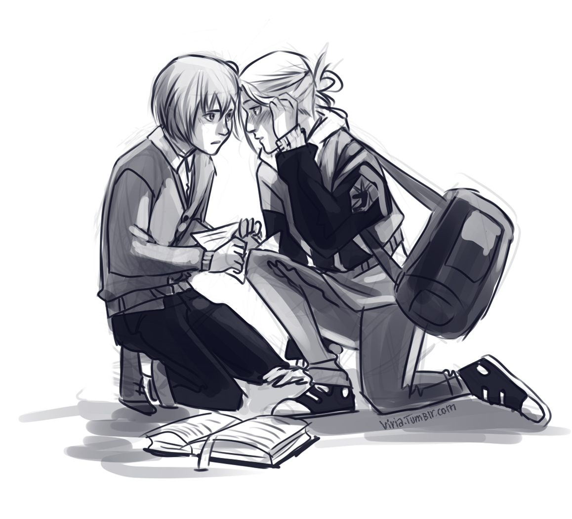That's rough, buddy. Armin and Annie! Seriously, I don't ship them, but for some reason fan art that includes both of them makes me happy.