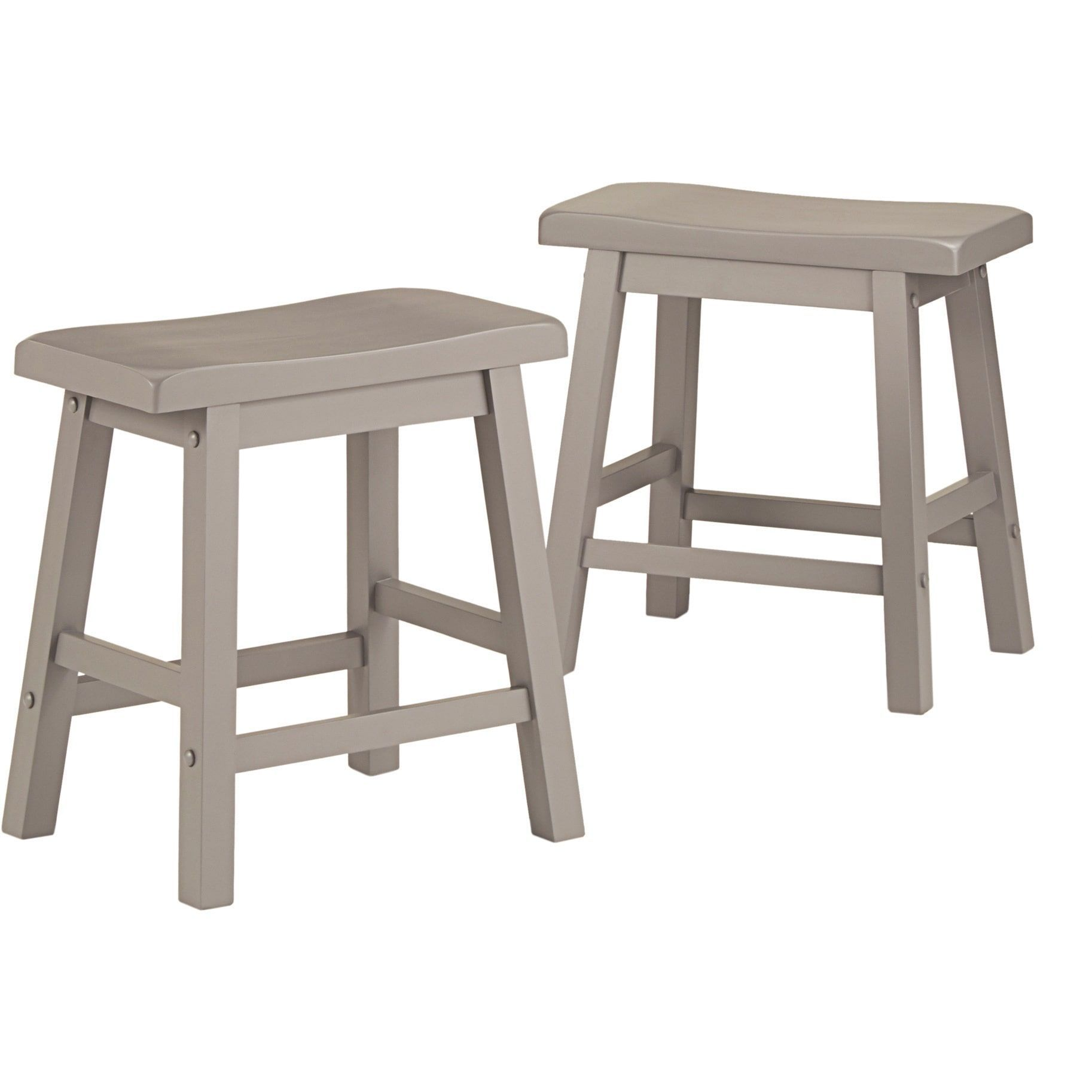Groovy Salvador Saddle Back 18 Inch Backless Stool Set Of 2 By Machost Co Dining Chair Design Ideas Machostcouk
