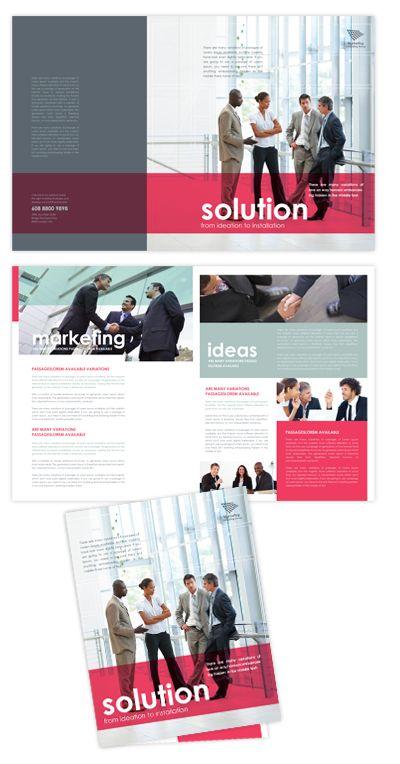 Marketing Consultant Brochure Template  Design Brochure Layout