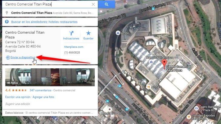 Ver Ya puedes enviar lugares e indicaciones de Google Mapas para PC a un Android