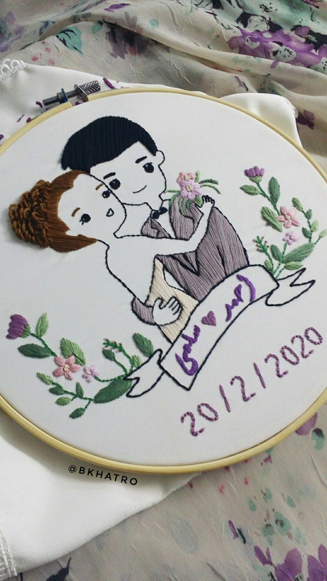 Couple Love Embroidery Design Engagement Birds Embroidery Designs Sewing Embroidery Designs Modern Hand Embroidery Patterns