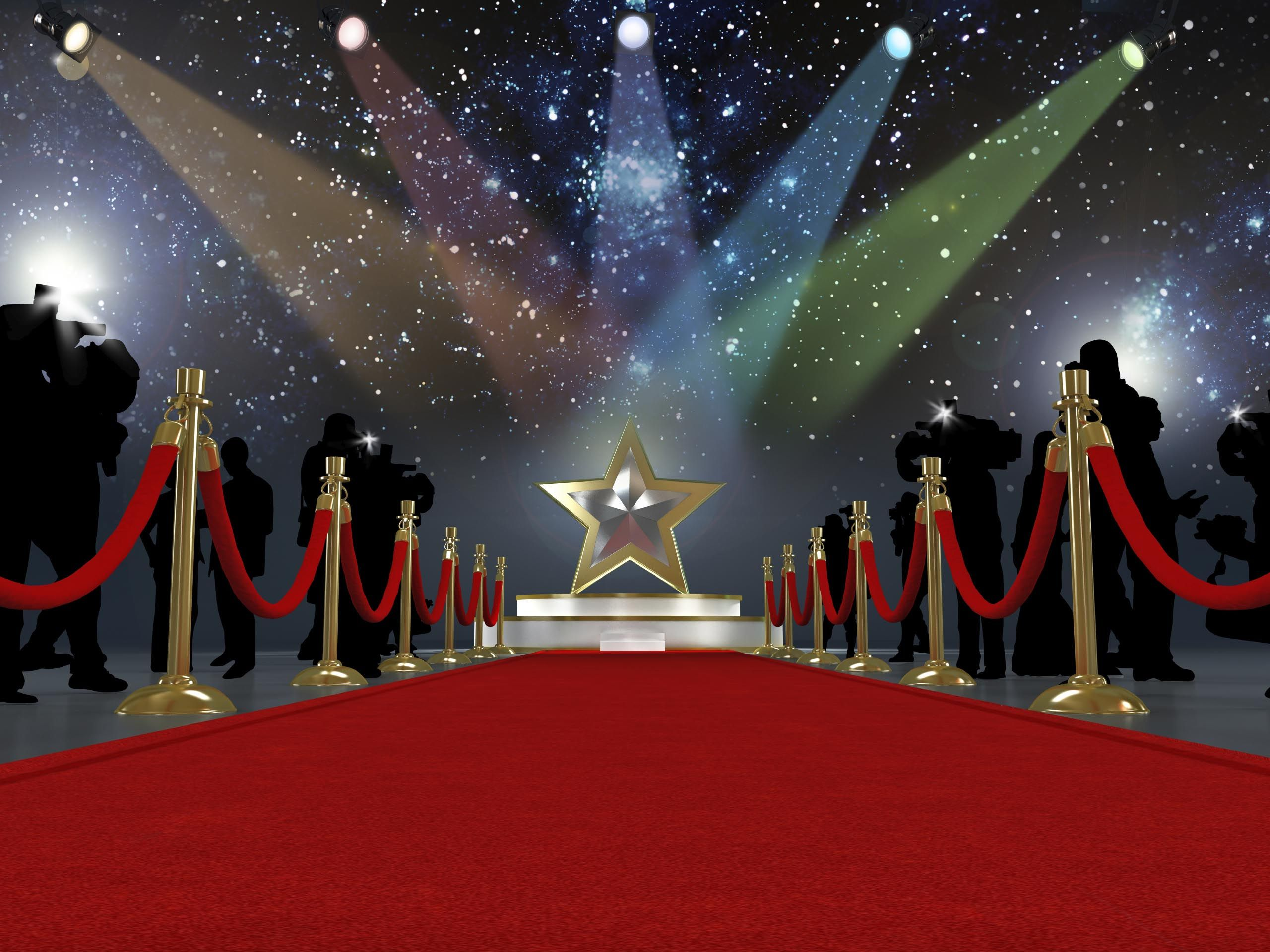 Hollywood Backdrop party Photography Oscars party banner red carpet 5ft x 7ft Printed