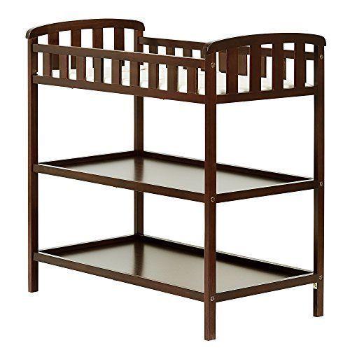 Changing Table Infant dress Shelve Storage Wood Furniture Nursery ...