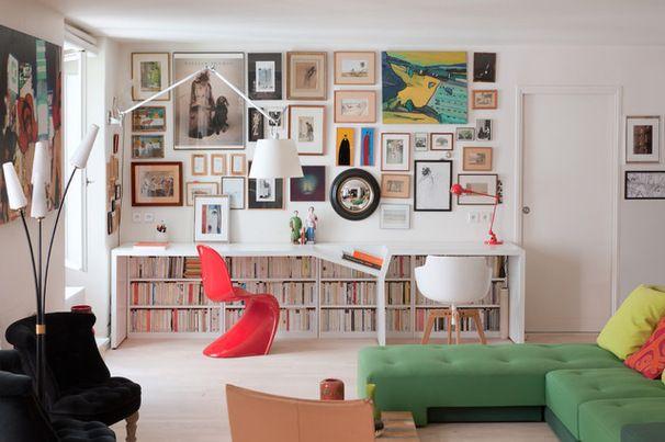 Piece cuisine salon bureau petit espace recherche google
