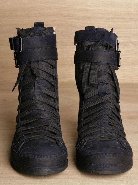 official photos 6df91 d7372 Ann Demeulemeester Mens Scamasciato Boots in Blue for Men (ink) - Lyst