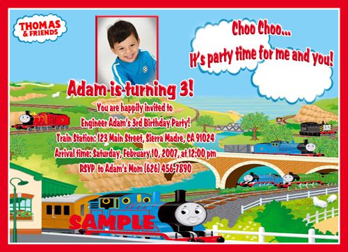 Free thomas the train birthday invitations ideas free printable free thomas the train birthday invitations ideas filmwisefo Gallery