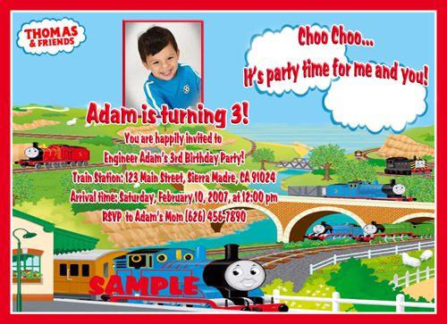 Photo Birthday Invitations Thomas the Train Tank Engine Awwww