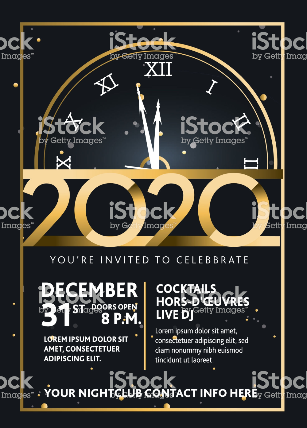 Vector illustration of a Happy New Year 2020 party