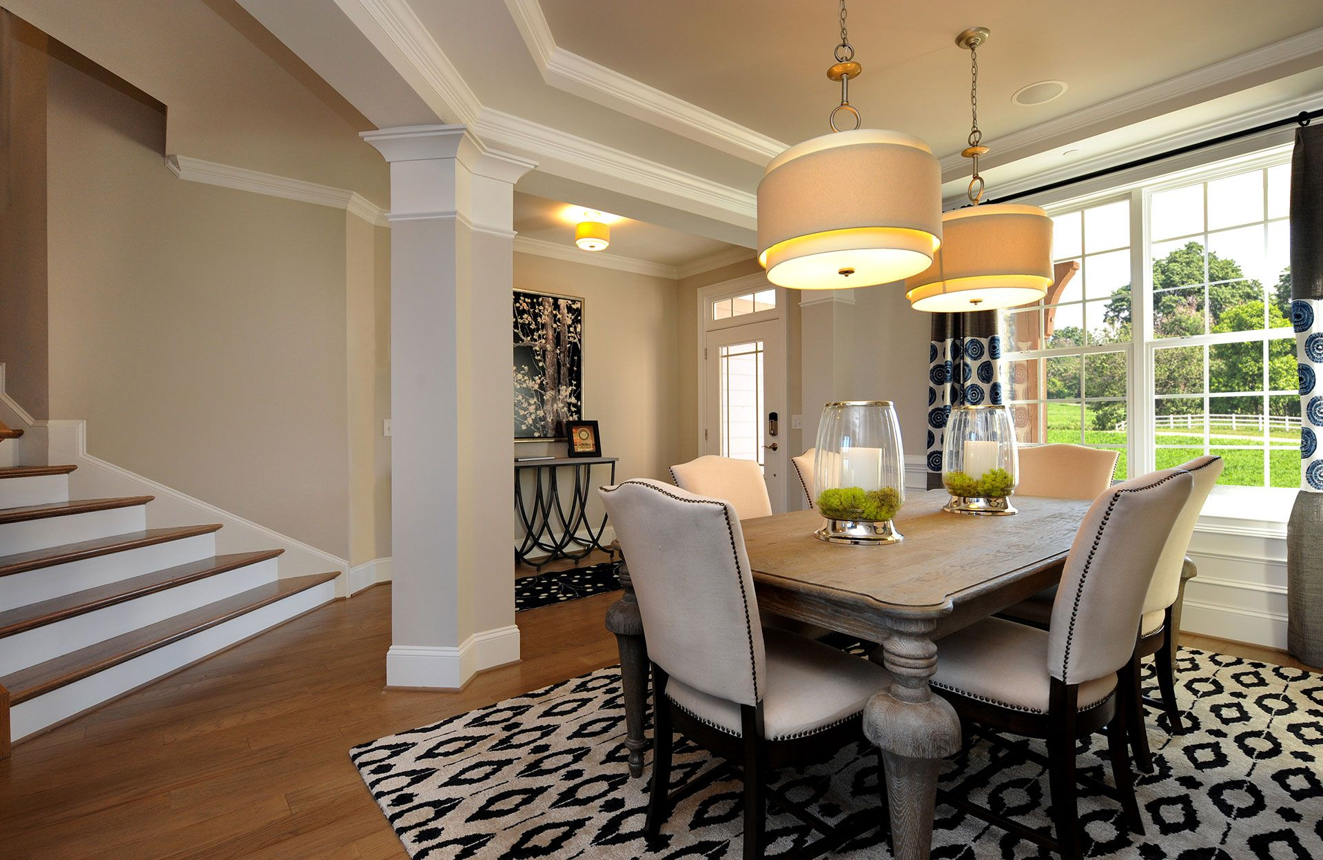 Model Home Dining Rooms The Bradley Model Dining Room With Tray Ceiling Raleigh Nc