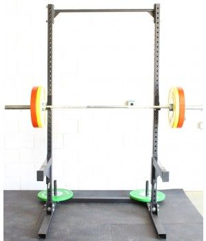The Rep Fitness Squat Rack With Pull Up Bar Seen With Safeties