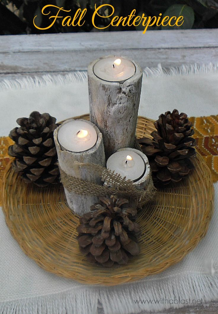 Fall centerpiece easy simple and quick to make using