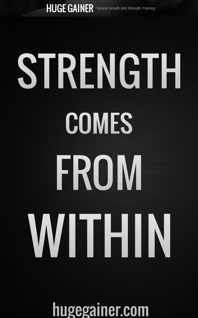 Strength comes from within.   My Wall / Motivation ...