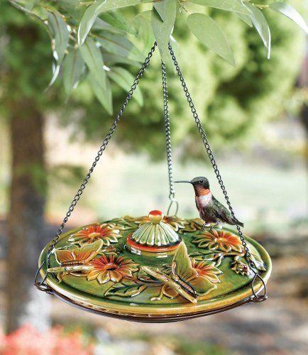 Amazon Com Ceramic Hanging Hummingbird Feeder Window Hummingbird Feeder Patio Lawn Garden Humming Bird Feeders Unique Bird Houses Bird Decor