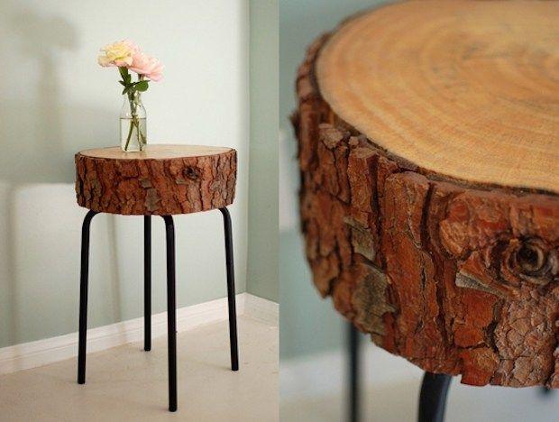Muebles troncos cafe mesa toques para la casa - Troncos de madera para decorar ...
