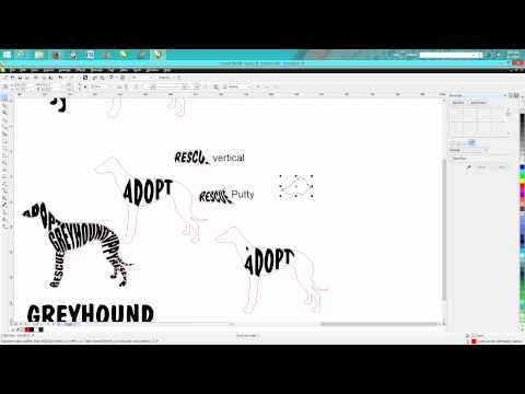 Corel Draw Tips & Tricks Text in a Shape 4 (the best one