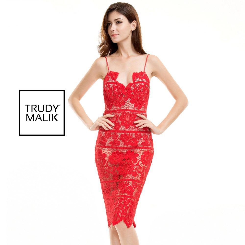 Sexy Spaghetti Strap Revealing Floral Lace Dress | Products | Pinterest