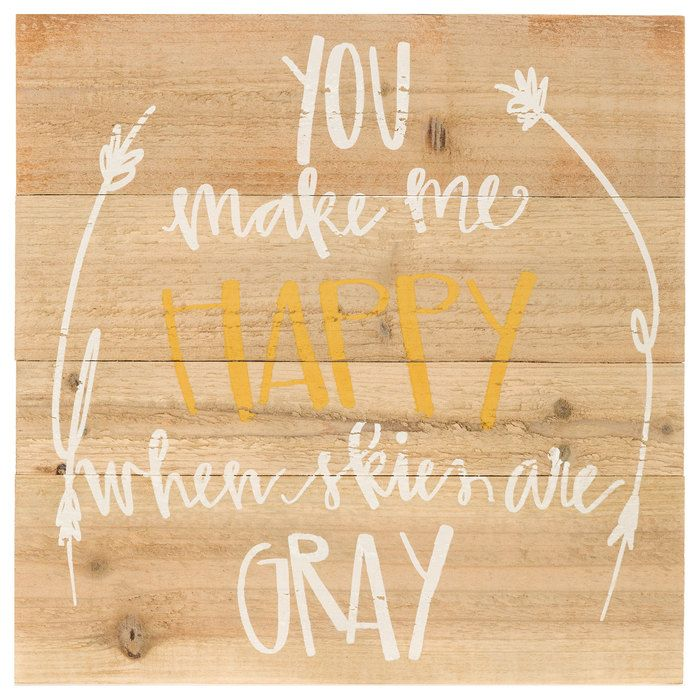 You Make Me Happy Wood Wall Decor | Home | Pinterest | Wood walls ...